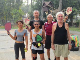 Pickle ball in Chiang Mai.