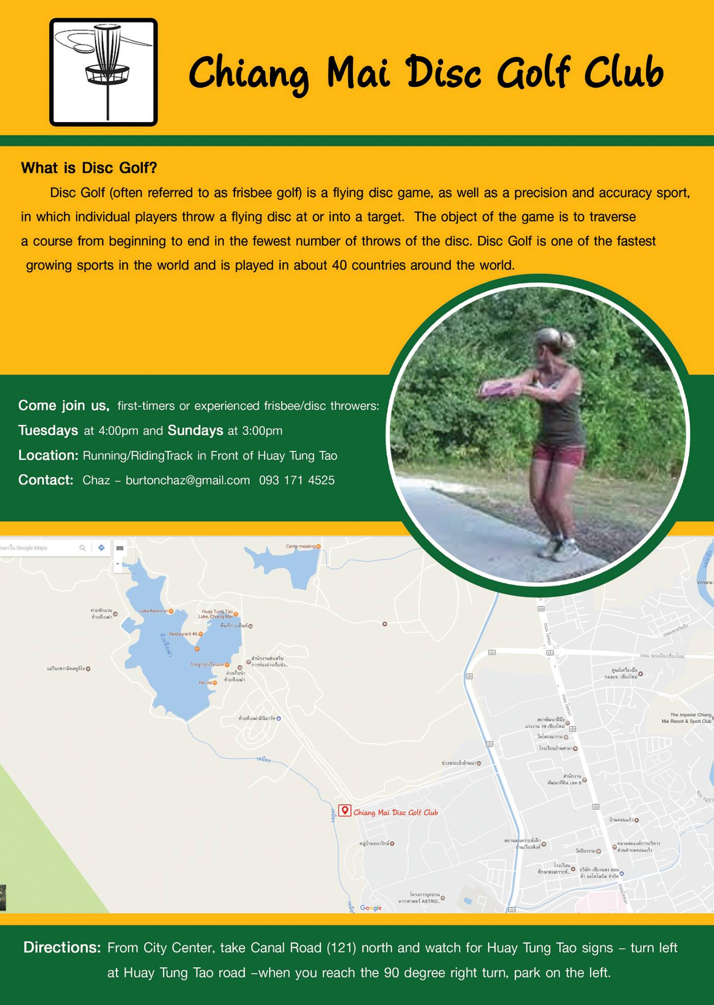 Disc Golf with Chaz Course Map Chiang Mai Expats Club ChiangMaiExpatsClub