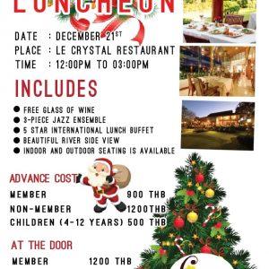 Christmas Luncheon Chiang Mai Expats Club ChiangMaiExpatsClub
