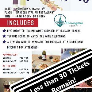Wine Tasting Event Chiang Mai Expats Club ChiangMaiExpatsClub